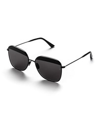 Sunday Somewhere Vito Capped Square Sunglasses Black