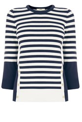 Oasis Nautical Stripe Knit Multi Coloured