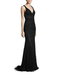 Jovani Prom Bead Embellished Gown Black