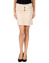 Roy Rogers Roy Roger's Choice Knee Length Skirts Beige