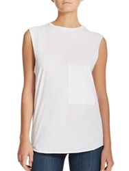 Feel The Piece Cara Cotton Muscle Tee White
