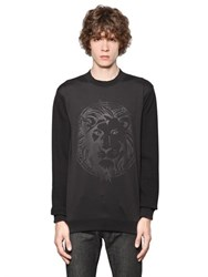 Versus Lion Light Neoprene And Cotton Sweatshirt