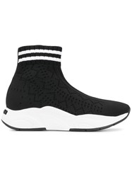 Kennel Schmenger And Knitted Slip On Sneakers Black