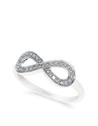Effy Classica 14K White Gold Diamond Infinity Ring Diamond White Gold