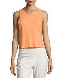 Alo Yoga Air Ribbed Workout Tank Top Orange
