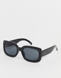 Selected Femme Square Lens Chunky Sunglasses Black