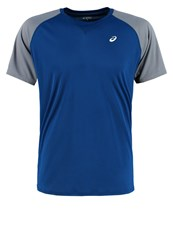 Asics Sports Shirt Poseidon Blue