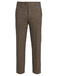 Missoni Mid Rise Houndstooth Wool Trousers Navy Multi