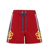 Red Valentino Stretch Cotton Shorts Red