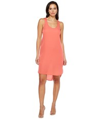 Heather Silk Scoop Tank Dress Melon Women's Dress Orange