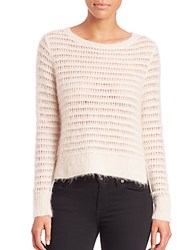 Rebecca Taylor Brushed Pointelle Sweater Chalk
