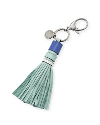 Leather Tassel Key Fob Bag Charm Mint Rebecca Minkoff