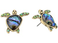 Betsey Johnson Abalone Stud Turtle Stud Earrings Blue Earring