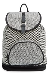Toms 'Departure' Print Canvas Backpack Black Black White
