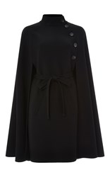 Carolina Herrera Heavy Wool Cape Black