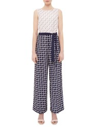 Ted Baker Colour By Numbers Finir Pencil Print Jumpsuit Nude Pink