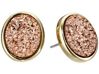 Kate Spade All That Glitters Druzy Stud Earrings Rose Gold