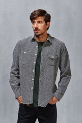 Vanishing Elephant Sunday Button Down Shirt Grey