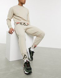 Fila Cliff Jogger With Cuff Detail In Stone