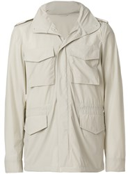 Aspesi Cropped Lightweight Jacket Nude And Neutrals