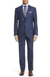 Hart Schaffner Marx Men's Classic Fit Stripe Wool Suit