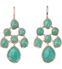 Monica Vinader Siren Chandelier 18Ct Rose Gold Plated And Amazonite Earrings