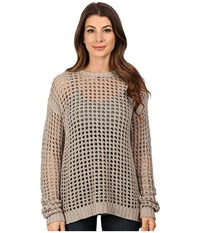 Blank Nyc Mesh Stitch Sweater With Open Back Detail Stone Beige Women's Sweater Bone