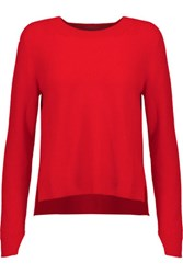 Rag And Bone Valentina Cropped Cashmere Sweater Red