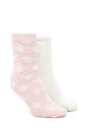 Forever 21 Polka Dot Fuzzy Socks 2 Pack
