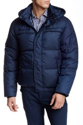 Andrew Marc New York Artica Down Bomber Jacket Blue