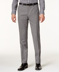 Bar Iii Men's Slim Fit Gray Glen Plaid Pants Only At Macy's