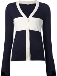 Jil Sander Navy Large Stripe Cardigan Blue