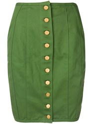 Jean Paul Gaultier Vintage Lace Up Detailing Pencil Skirt Green