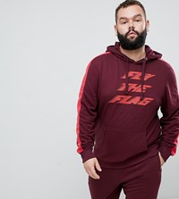 Blend Of America Fly The Flag Hoodie Co Ord In Red