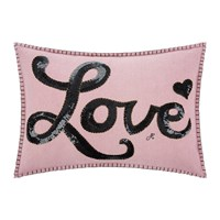 Jan Constantine Glam Rock Sequin Cushion Love Pink