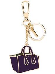 Bally Handbag Keyring Pink And Purple