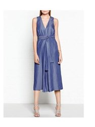 C Meo Collective Blue Dream Chambray Jumpsuit Blue
