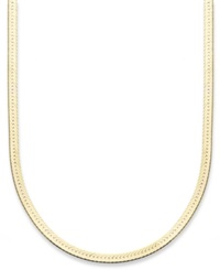 Giani Bernini 24K Gold Over Sterling Silver Necklace 18' Herringbone Chain