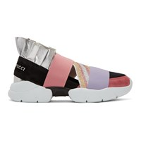 Emilio Pucci Pink And Black City Up Sneakers