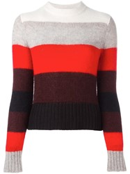 Rag And Bone Ivory Striped Jumper Bone