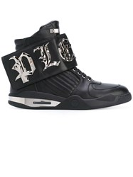 Philipp Plein 'Bye' Hi Top Sneakers Men Calf Leather Leather Rubber 41 Black