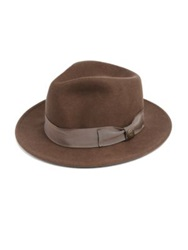 Goorin Bros Brady Mcdormott Wool Felt Fedora Grey Brown