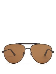 Bottega Veneta Aviator Sunglasses Black Multi