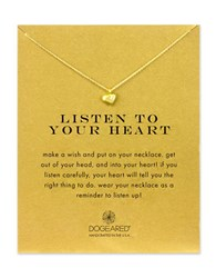 Dogeared 14K Gold Dipped Sterling Silver Heart Necklace