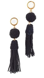 Lizzie Fortunato Havana Earrings Gold Navy