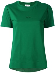 Dkny Printed Logo T Shirt Green