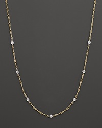 Roberto Coin 18 Kt. Yellow And White Gold Diamond Station Necklace No Color