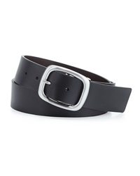 Robert Graham Posner Reversible Faux Leather Belt Black