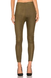 Mlml High Waisted Suede Legging Olive