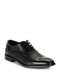 Kenneth Cole Ticket Balance Woven Leather Oxfords Black